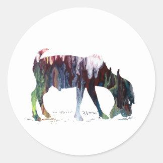 Art de chèvre sticker rond