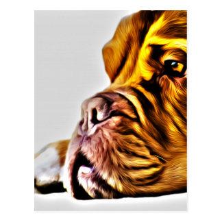 Art de chien cartes postales