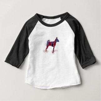 art de chien de basenji t-shirt pour bébé