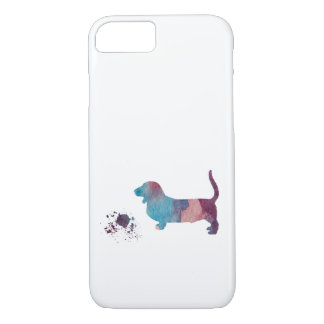 Art de chien de basset coque iPhone 7