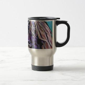 Art de chien de bruit de lévrier afghan mug de voyage en acier inoxydable