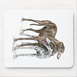 Art de chien de deux amis de lévrier tapis de souris