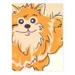 Art de chien de Spitz de Pomeranian Carte Postale