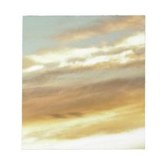 art de ciel de coucher du soleil bloc-note