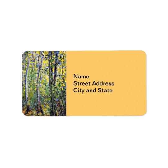 Art de Claude Monet : Ruelle en bois, peignant par Étiquette D'adresse