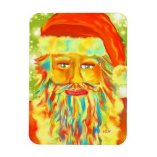 """Art """"de Claus coloré"""" Père Noël par Victoria Lynn  Magnets En Rectangle"""
