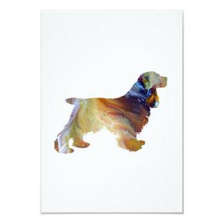 Art de cocker carton d'invitation 8,89 cm x 12,70 cm