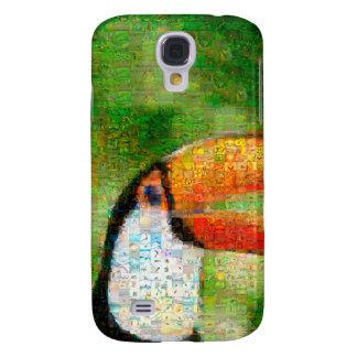 Art de collage-toucan de toucan - art de collage coque galaxy s4