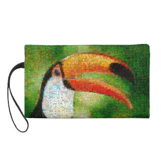 Art de collage-toucan de toucan - art de collage pochette avec dragonne