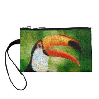 Art de collage-toucan de toucan - art de collage porte-monnaie