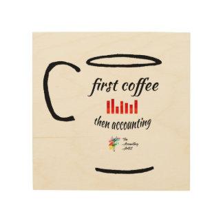Art de comptabilité - premier café, rendant compte