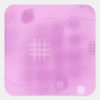 Art de couture piquant de conception de tissu sticker carré