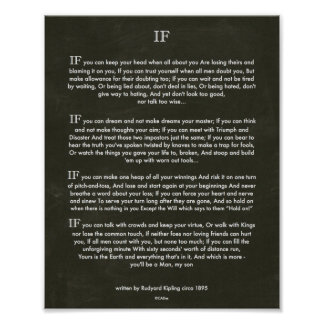 Art de craie SI citation par Rudyard Kipling 1895 Posters