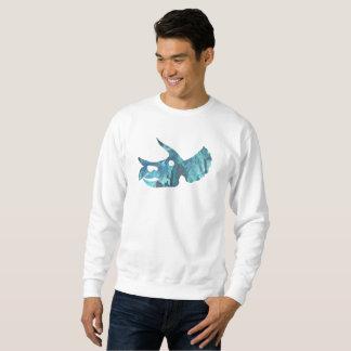 Art de crâne de Triceratops Sweatshirt