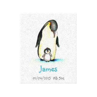 Art de crèche avec le pingouin - personnaliser toiles