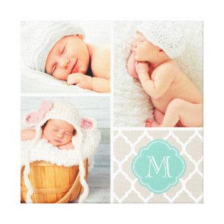 Art de crèche de collage de photo de bébé de monog toiles
