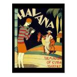 Art de cru de couverture d'art déco de La Havane C Cartes Postales