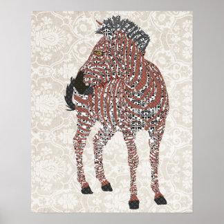 Art de damassé de Zenya Affiches