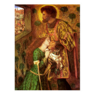 Art de Dante Gabriel Rossetti Carte Postale