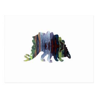 art de dinosaure carte postale
