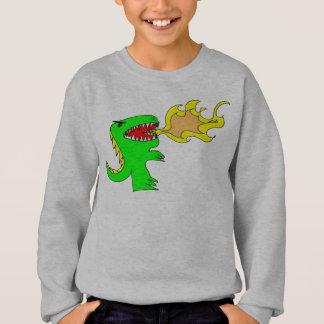 Art de dinosaure ou de dragon par peu de t + sweatshirt