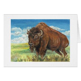 Art de faune de bison américain de Buffalo de Carte De Vœux