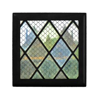 Art de fenêtre petite boîte à bijoux carrée