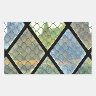 Art de fenêtre sticker rectangulaire