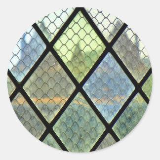 Art de fenêtre sticker rond