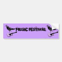 art de festival de musique adhésif pour voiture