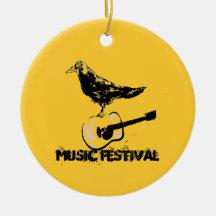 art de festival de musique ornement de noël