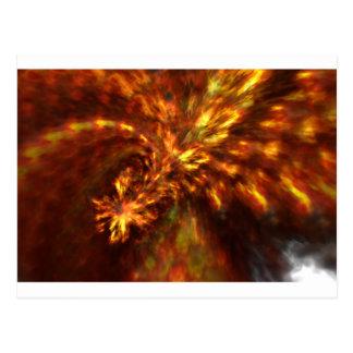 Art de flamme de fractale carte postale