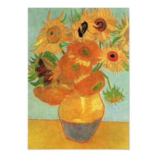 Art de fleur de Van Gogh, vase avec 12 tournesols Bristol Personnalisé