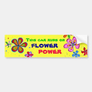 Art de flower power, adhésif pour pare-chocs autocollant pour voiture