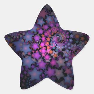 Art de fractale d'amusement avec des étoiles sticker étoile