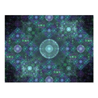 """Art de fractale """"de bulles de savon"""" carte postale"""