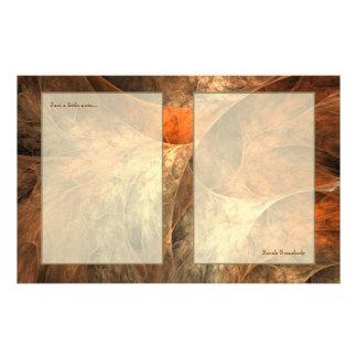 Art de fractale de richesse d'automne motifs pour papier à lettre