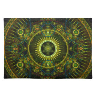 """Art de fractale """"de roue de Magick de Metatron"""" - Set De Table"""