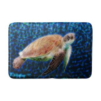 Art de fractale de tortue de mer tapis de bain
