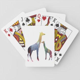 Art de girafe cartes à jouer