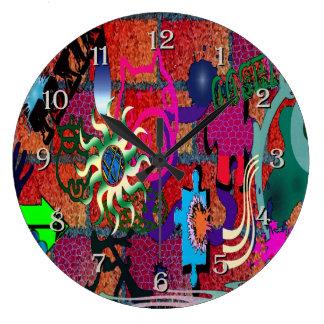 art de graffiti de couleur d'U-sélection sur le Horloge