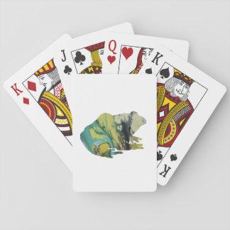 Art de grenouille cartes à jouer