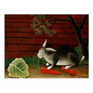 Art de Henri Rousseau : Lapin Carte Postale