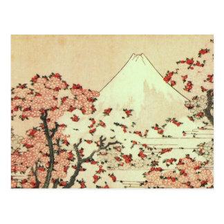 Art de Japonais de Hokusai le mont Fuji Carte Postale