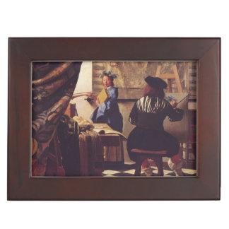 Art de la peinture par Johannes Vermeer Boîtes À Souvenirs