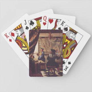 Art de la peinture par Johannes Vermeer Cartes À Jouer Poker