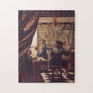 Art de la peinture par Johannes Vermeer Puzzle