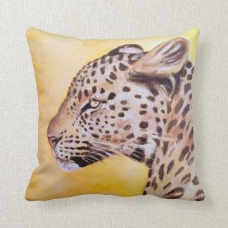 Art de léopard coussin décoratif