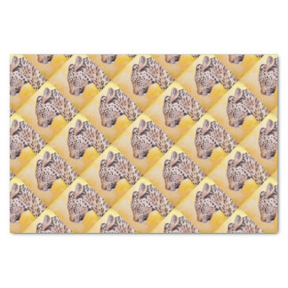 Art de léopard papier mousseline