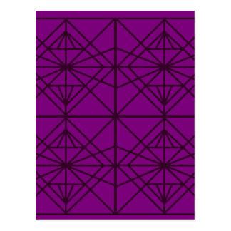 Art de luxe géométrique du Maroc/édition en Carte Postale